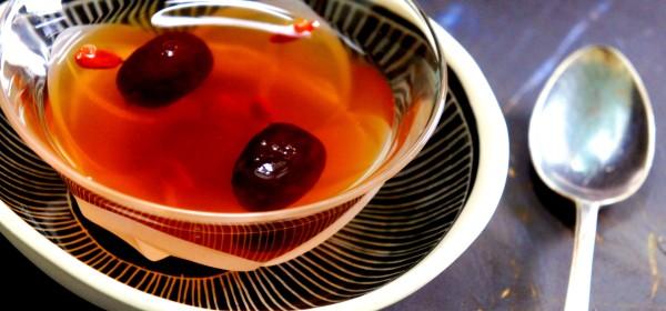 Female health tonic - Sweet traditional herbal tea with DangGui, GoJi berries, and red dates