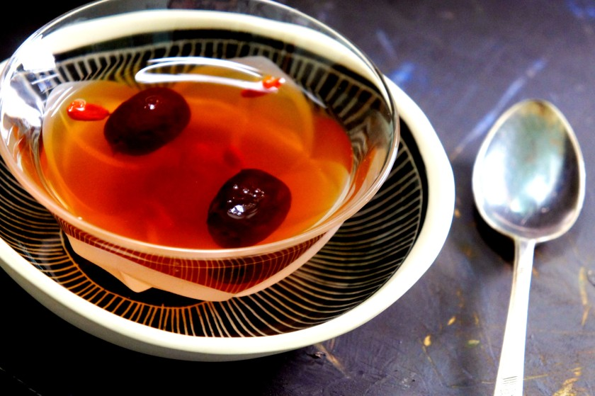 Female health tonic - Sweet traditional herbal tea with DangGui, GoJi berries, and red dates