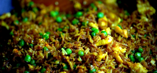 Fried rice with Asian spices