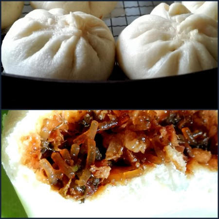 Steamed pork belly buns