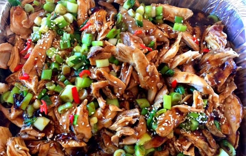 Poached chicken with shallot oil and oyster sauce and green shallot (FODMAP friendly)